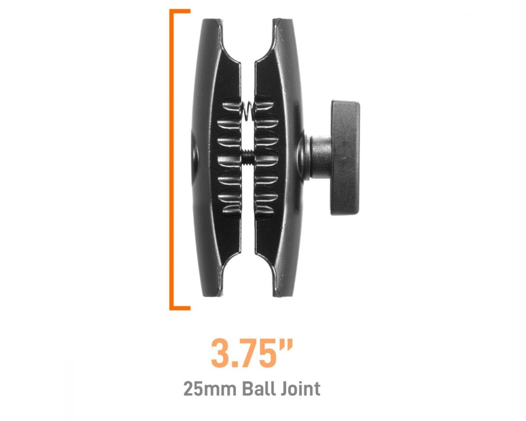 iBOLT Aluminum 3.75 inch Double Socket Arm 25mm Ball adapter