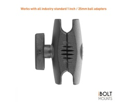 [22202] iBOLT Aluminum 2.75 inch Double Socket Arm for 25mm Ball adapters