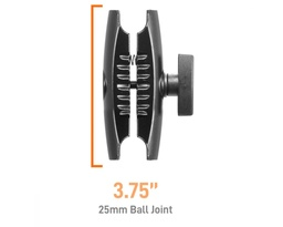 [22193] iBOLT Aluminum 3.75 inch Double Socket Arm 25mm Ball adapter